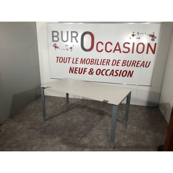 BUREAU DROIT GRIS OCCASION
