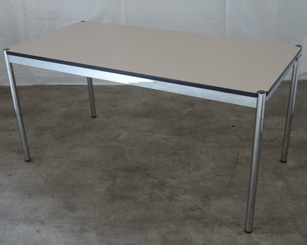 TABLE RECTANGLE GRISE OCCASION