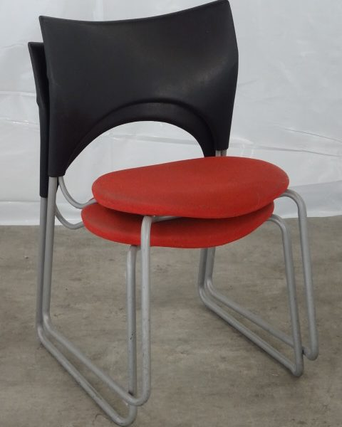 LOT CHAISES ROUGES OCCASION